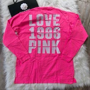Victoria's Secret PINK LOVE Campus Long Sleeve M